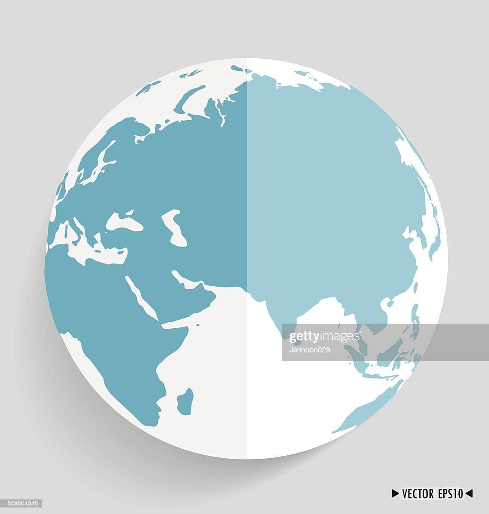 Moderno mundo. Ilustración vectorial. : Arte vectorial