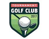 Modern Golf Badge Illustration