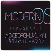 Modern gradient colors font