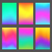 Modern gradients smartphone screen backgrounds