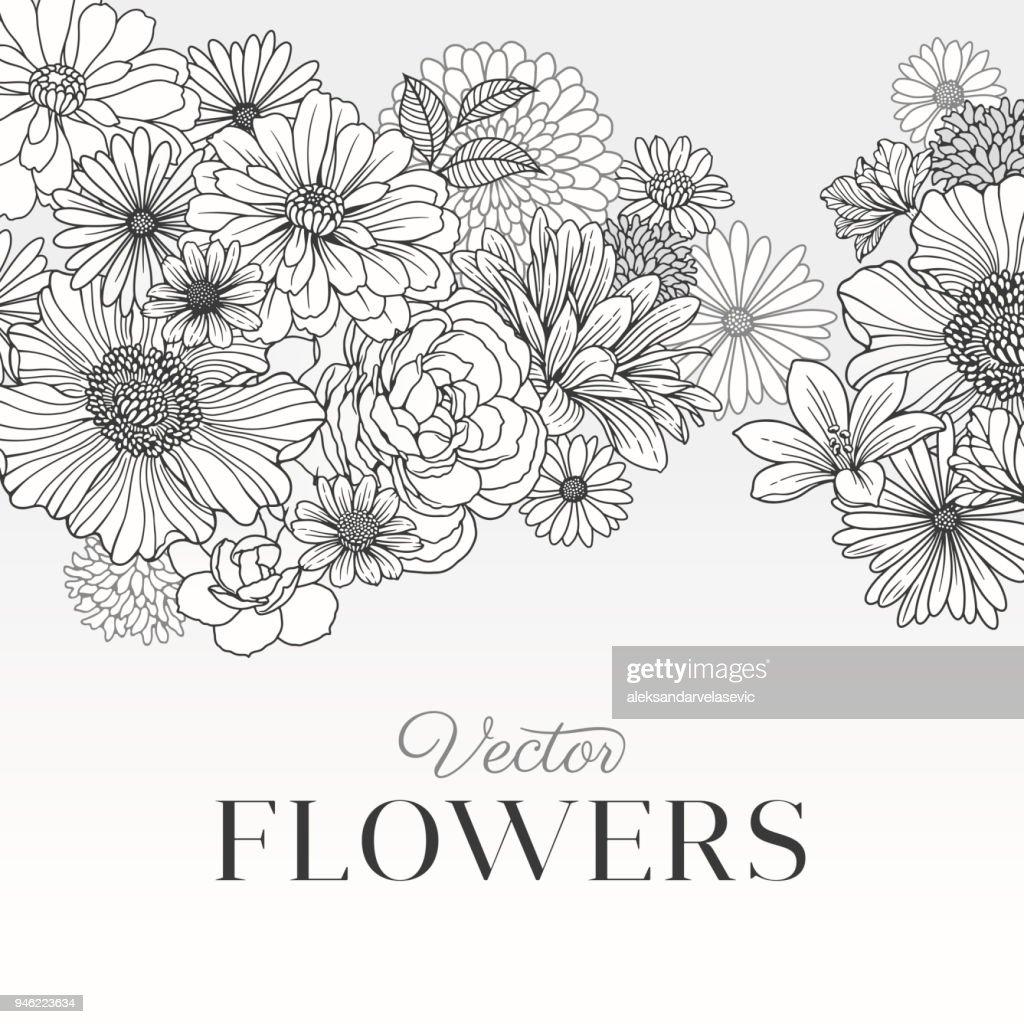 Modern Graphic Flowers : stock illustration