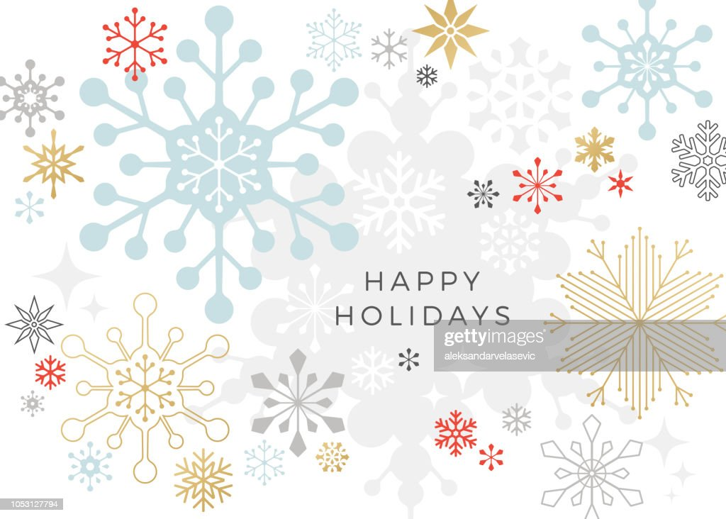 Modern Graphic Snowflake Holiday, Christmas Background