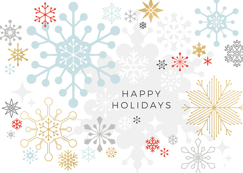 Modern Graphic Snowflake Holiday, Christmas Background - gettyimageskorea