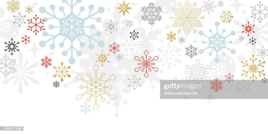モダンなグラフィック スノーフレーク休日、クリスマスの背景 : ストックイラストレーション