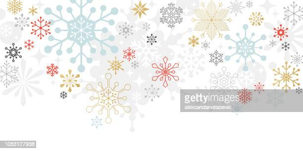 modern graphic snowflake holiday, christmas background - backgrounds stock illustrations