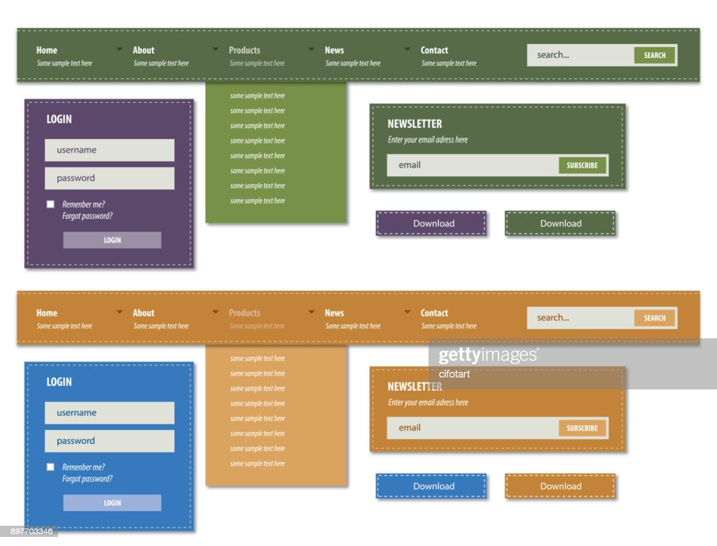 Modern graphical user interface set