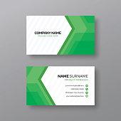 Modern green business card design template