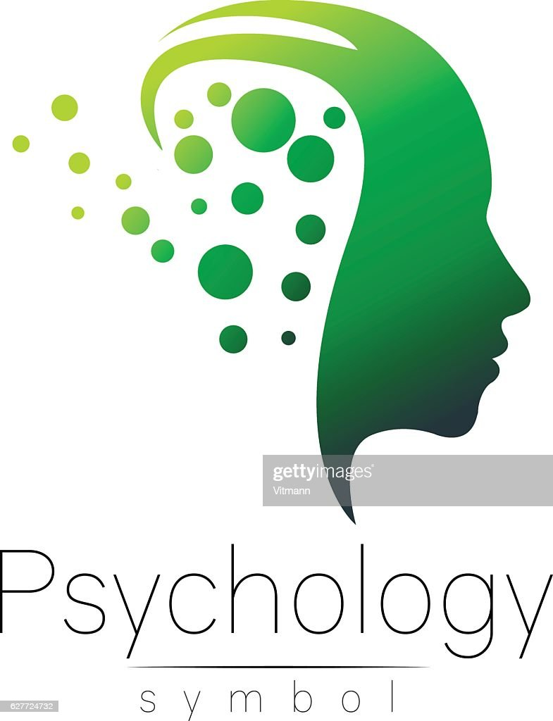 Modern Head Sign Of Psychology Profile Human Creative Style Symbol