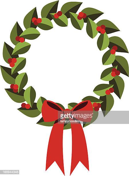 Modern Holly Wreath
