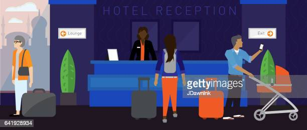 モダンなホテルのシーン