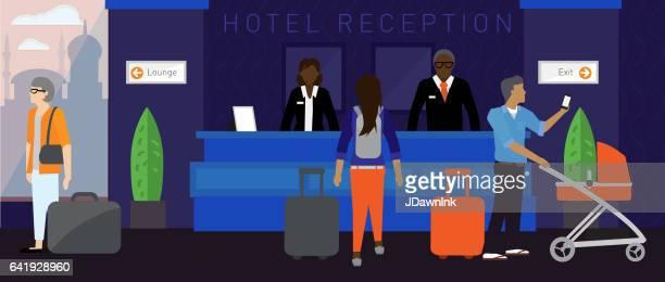 Modern hotel scene