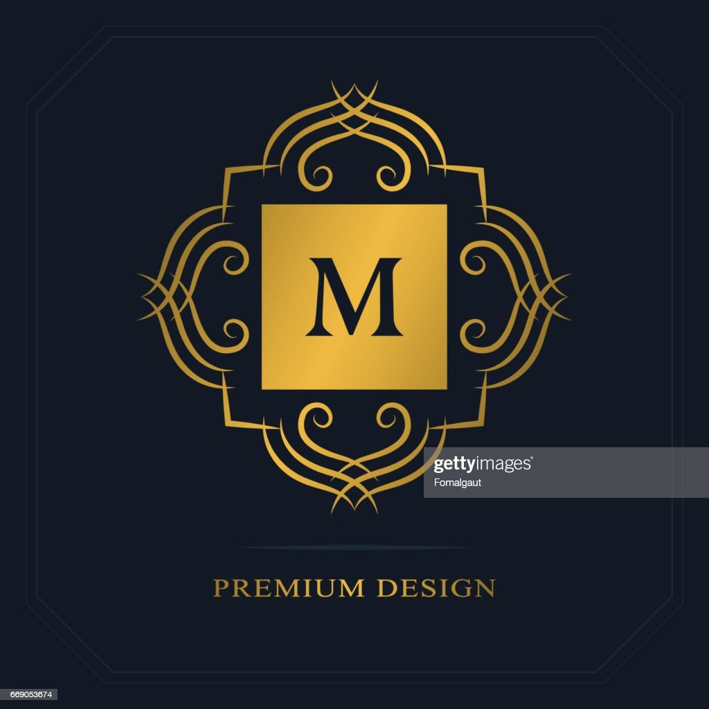 Modern icon design geometric initial monogram template letter emblem geometric initial monogram template letter emblem m mark of distinction universal business sign for brand name company business card badge flashek Image collections