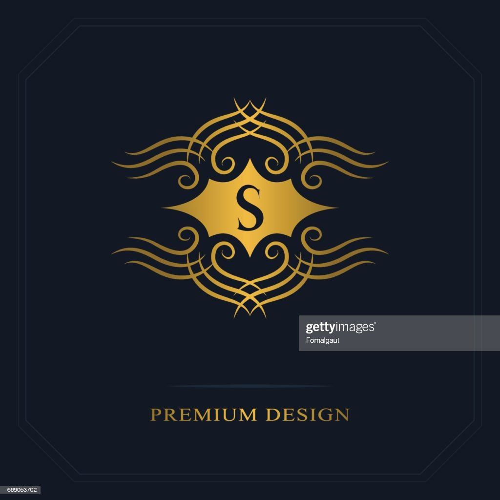 Modern Icon Design Geometric Initial Monogram Template Letter Emblem