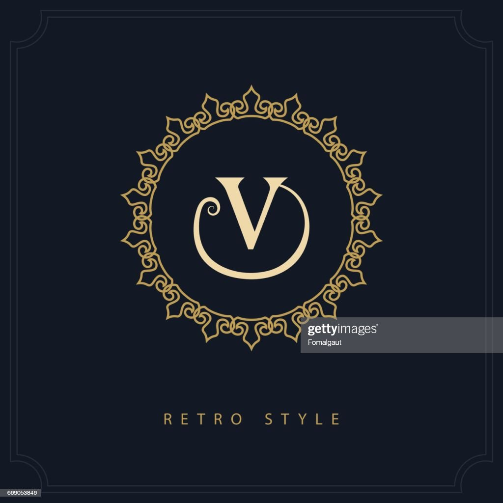 Modern icon design geometric initial monogram template letter emblem geometric initial monogram template letter emblem v mark of distinction universal business sign for brand name company business card badge flashek Image collections