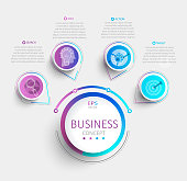 Modern infographic with business timeline data visualization.