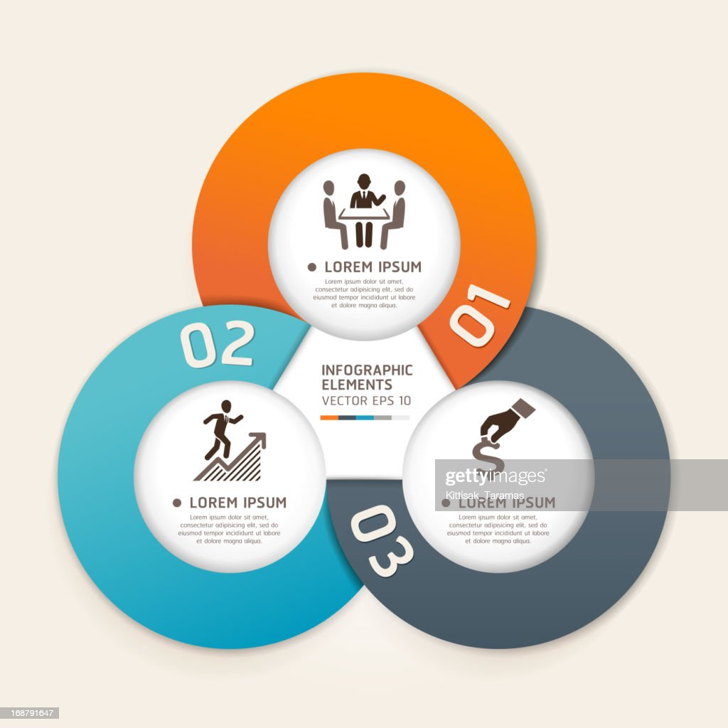 Modern Infographics business circle origami style template.