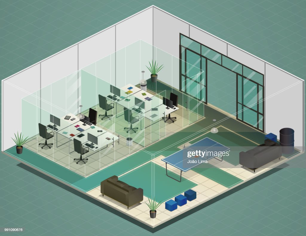 Modern Isometric Office