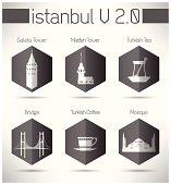 Modern Istanbul Pictogram Designs