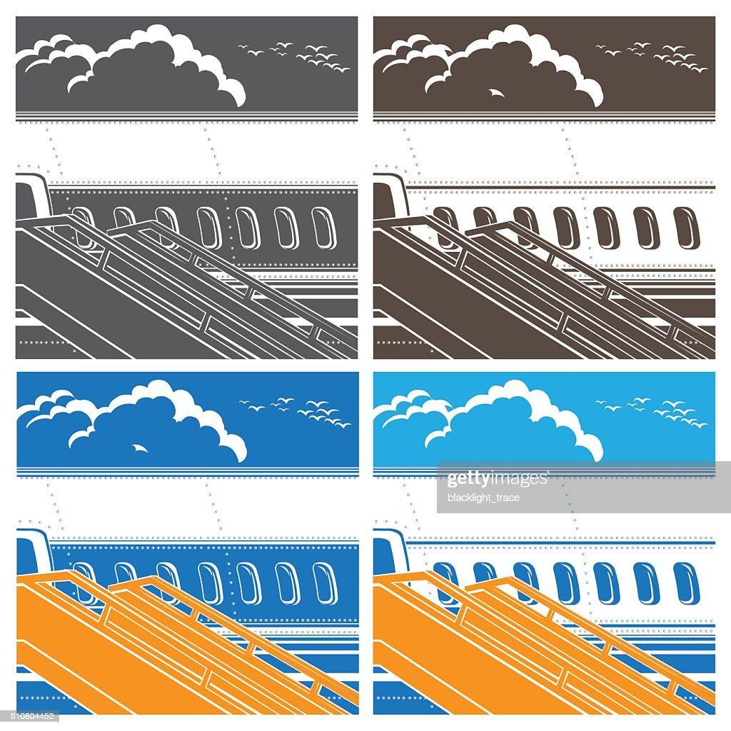 modern jet airliner symbol