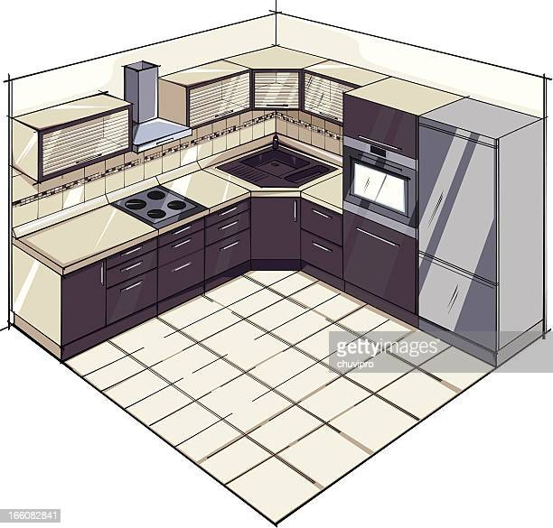modern kitchen suite - exhaust fan stock illustrations, clip art, cartoons, & icons