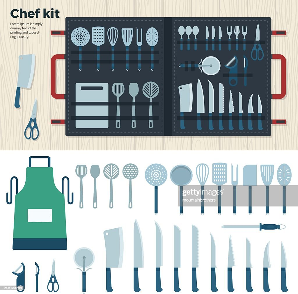 Modern Kitchen Tools for Cooking. Chef Kit