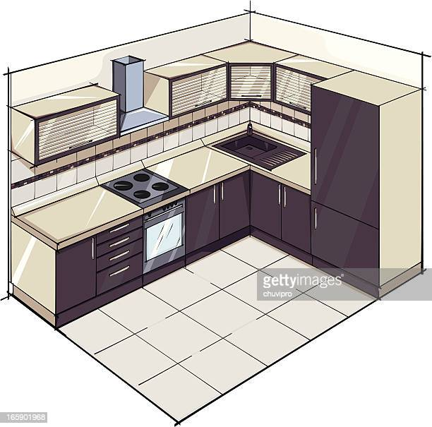 modern kitchen. - exhaust fan stock illustrations, clip art, cartoons, & icons