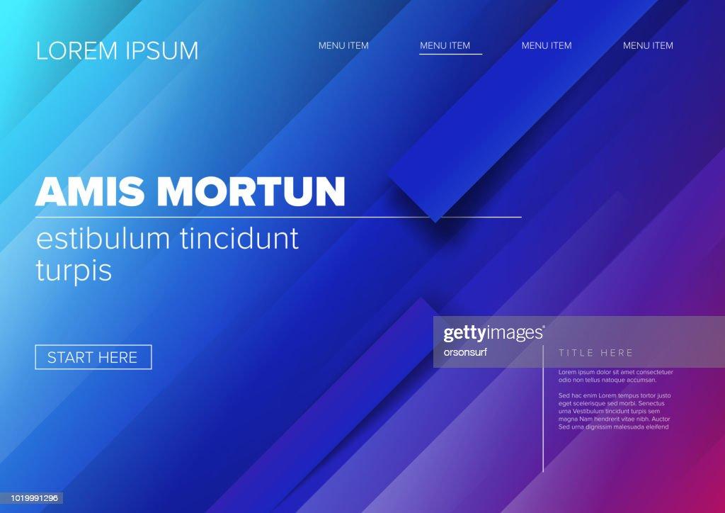Modern landing web page template