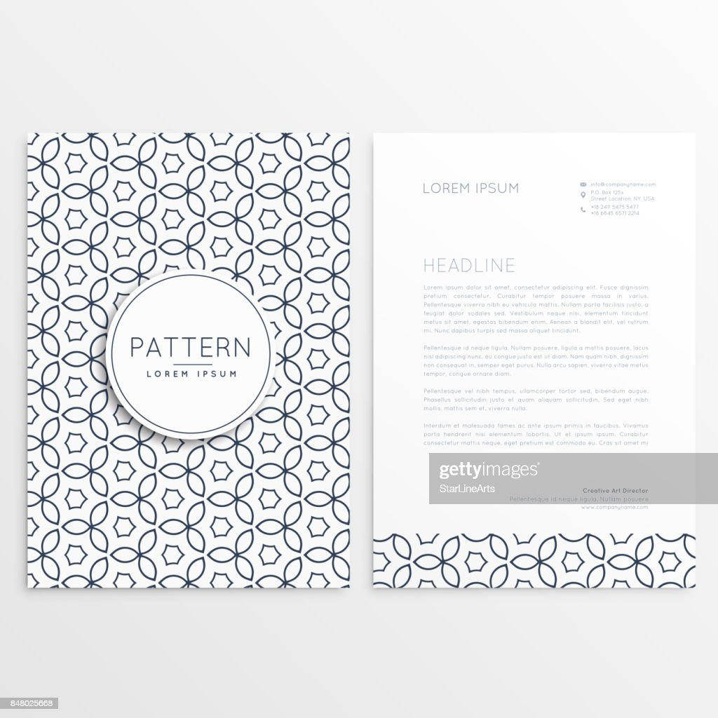 modern letterhead design