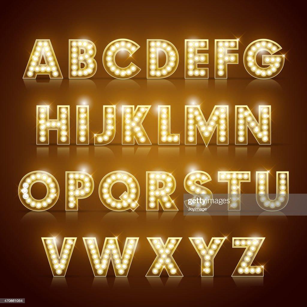 modern lighting alphabet set