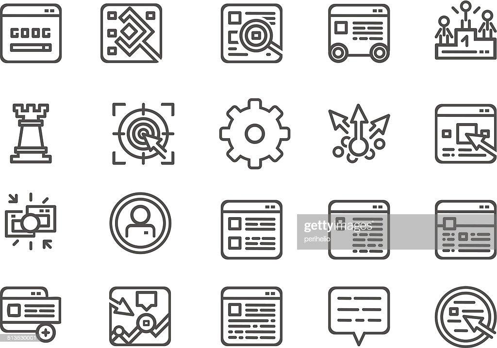 Modern line icons set