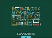 Modern linear style vector concept. Education