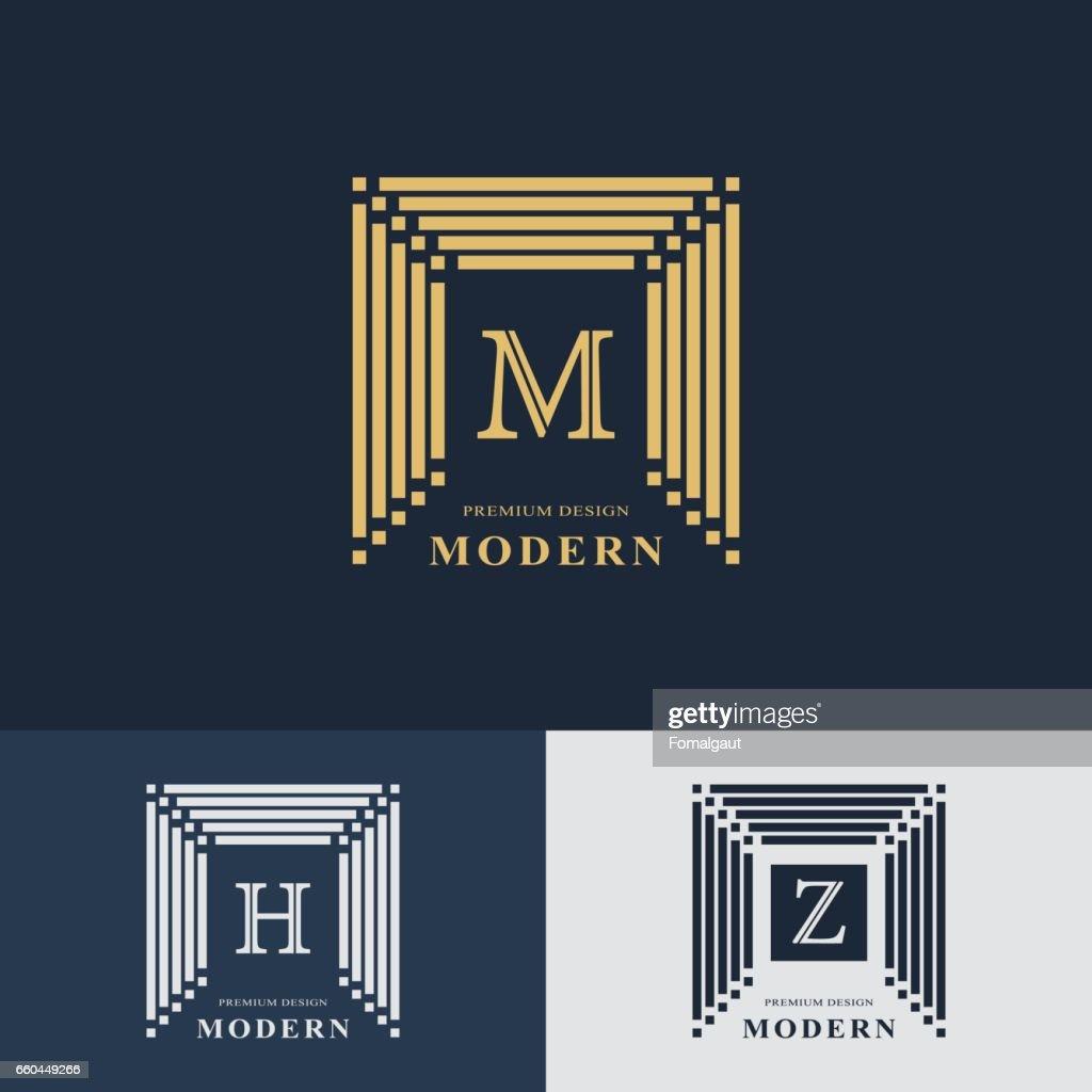 Modernes Logodesign Geometrische Lineare Monogramm Vorlage