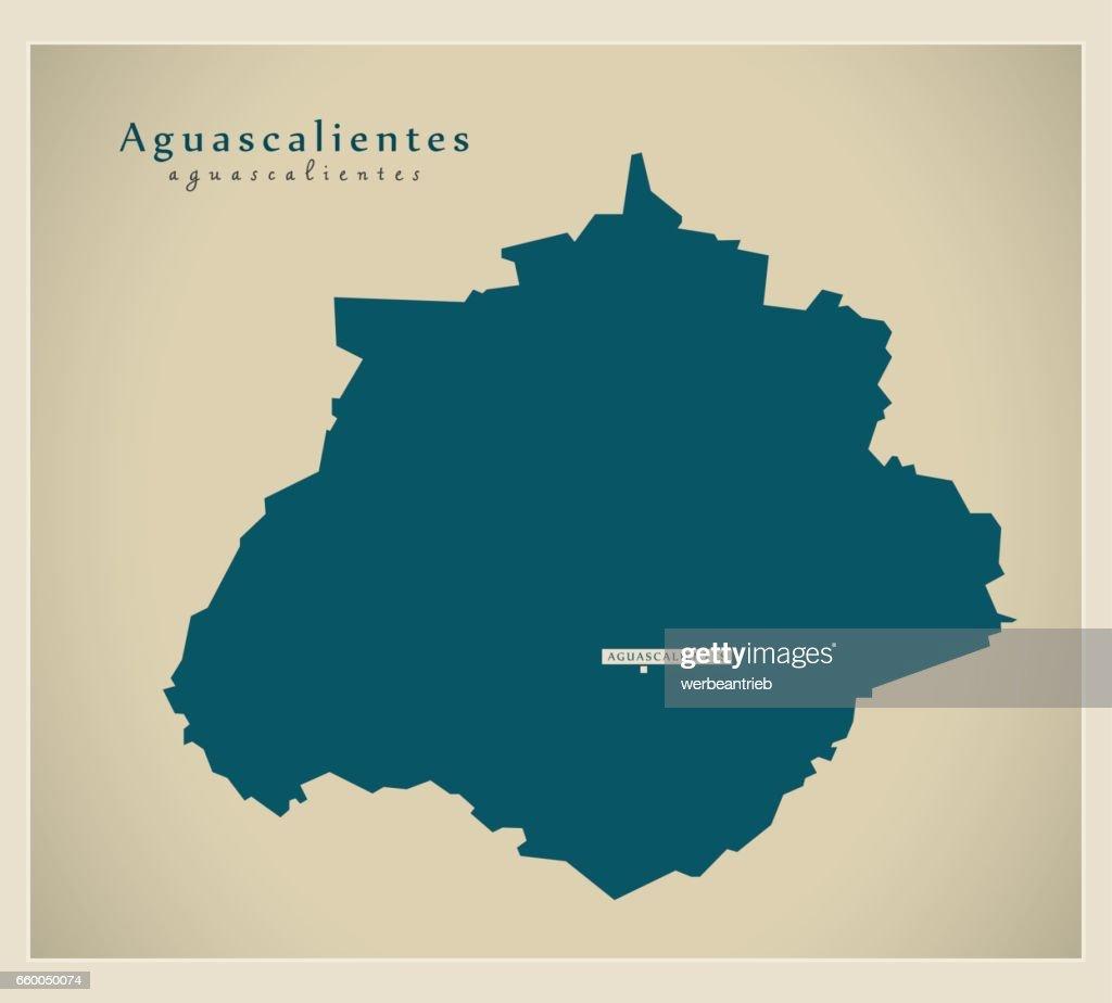 Modern Map - Aguascalientes MX