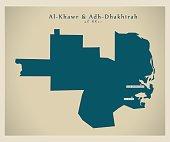 Modern Map - Al-Khawr and Adh-Dhakhirah QA