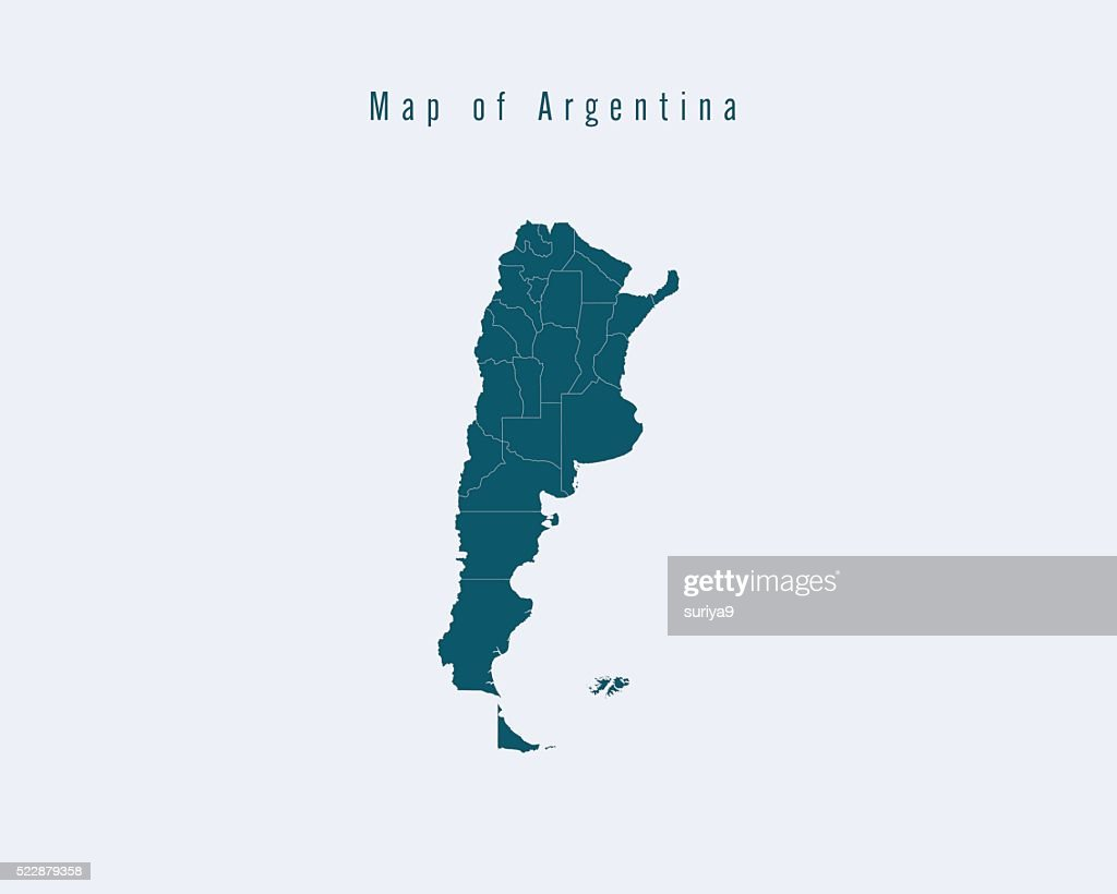 Modern Map - Argentina with federal states