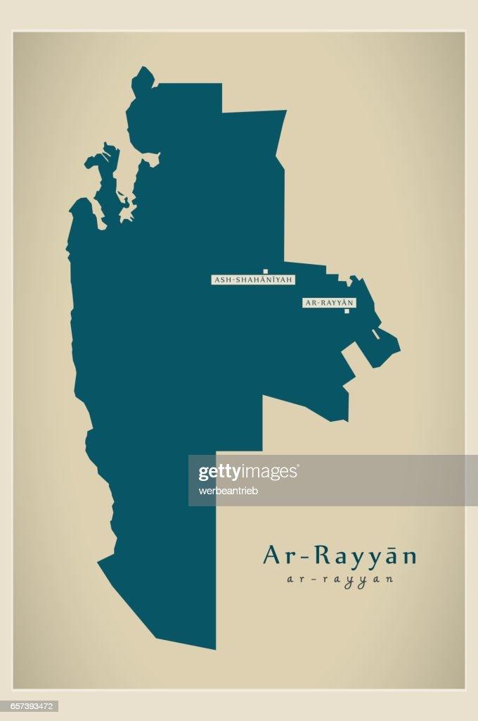 Modern Map - Ar-Rayyan QA