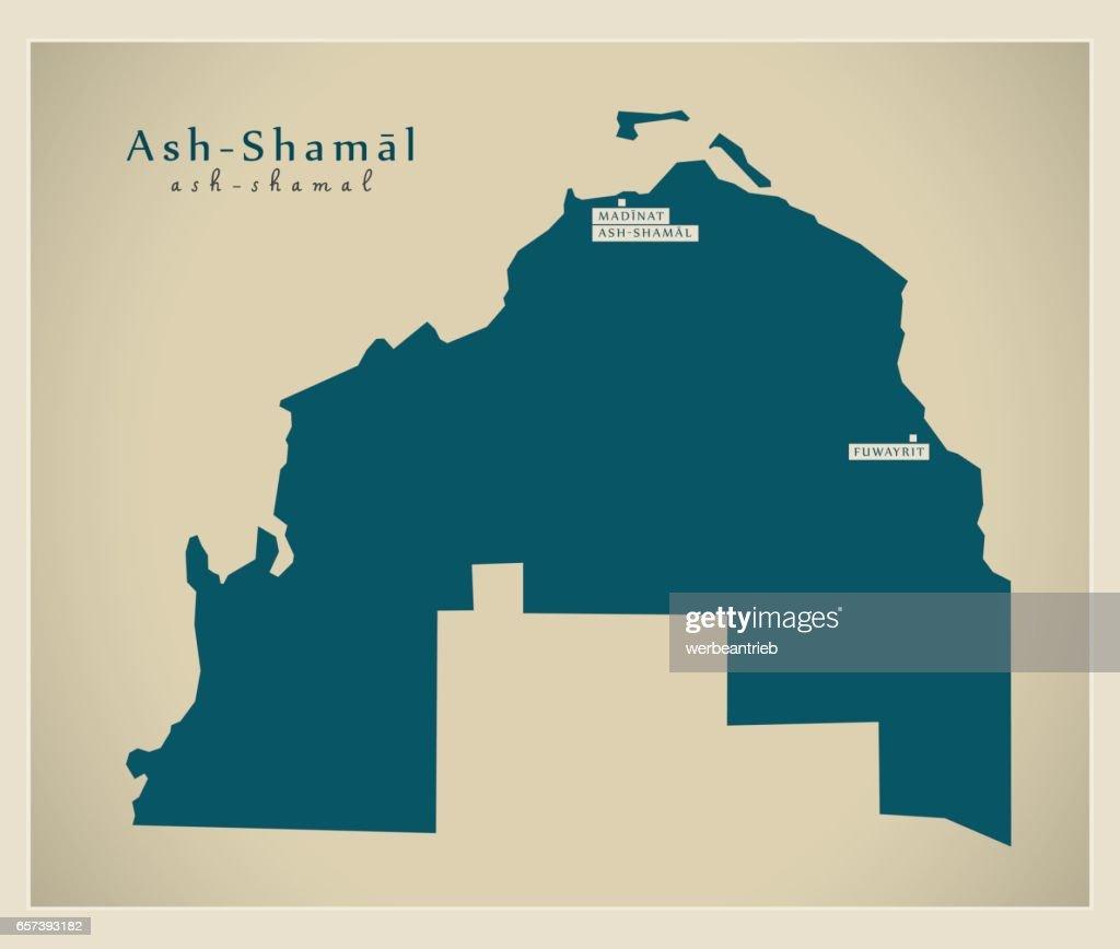 Modern Map - Ash-Shamal QA