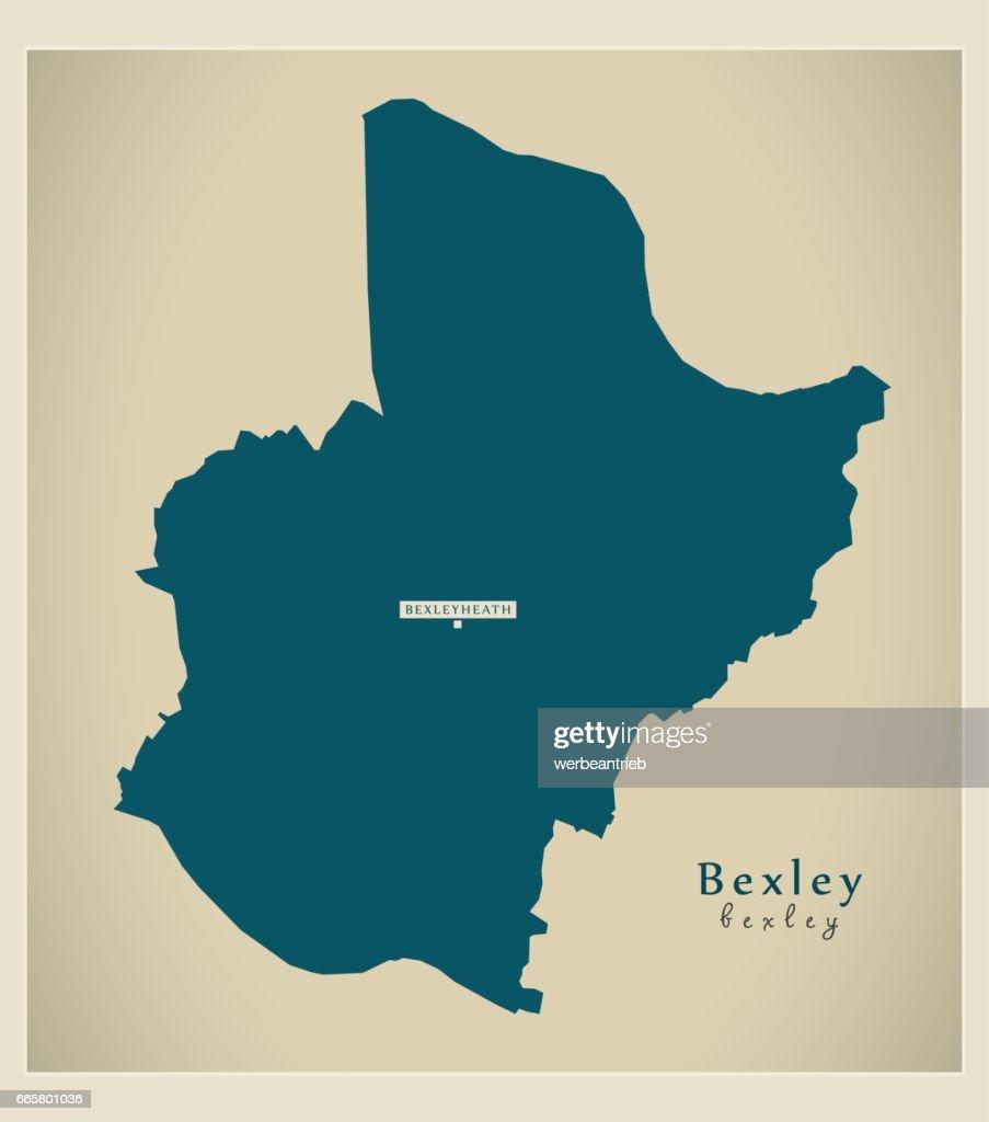 modern map bexley borough greater london uk england vector art