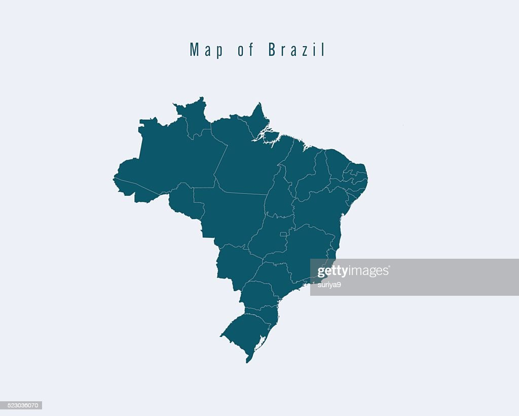 Modern Map - Brazil with federal states
