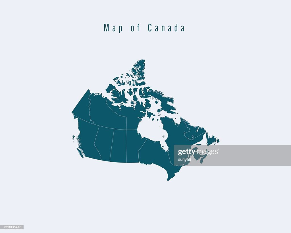 Modern Map - Canada with federal states