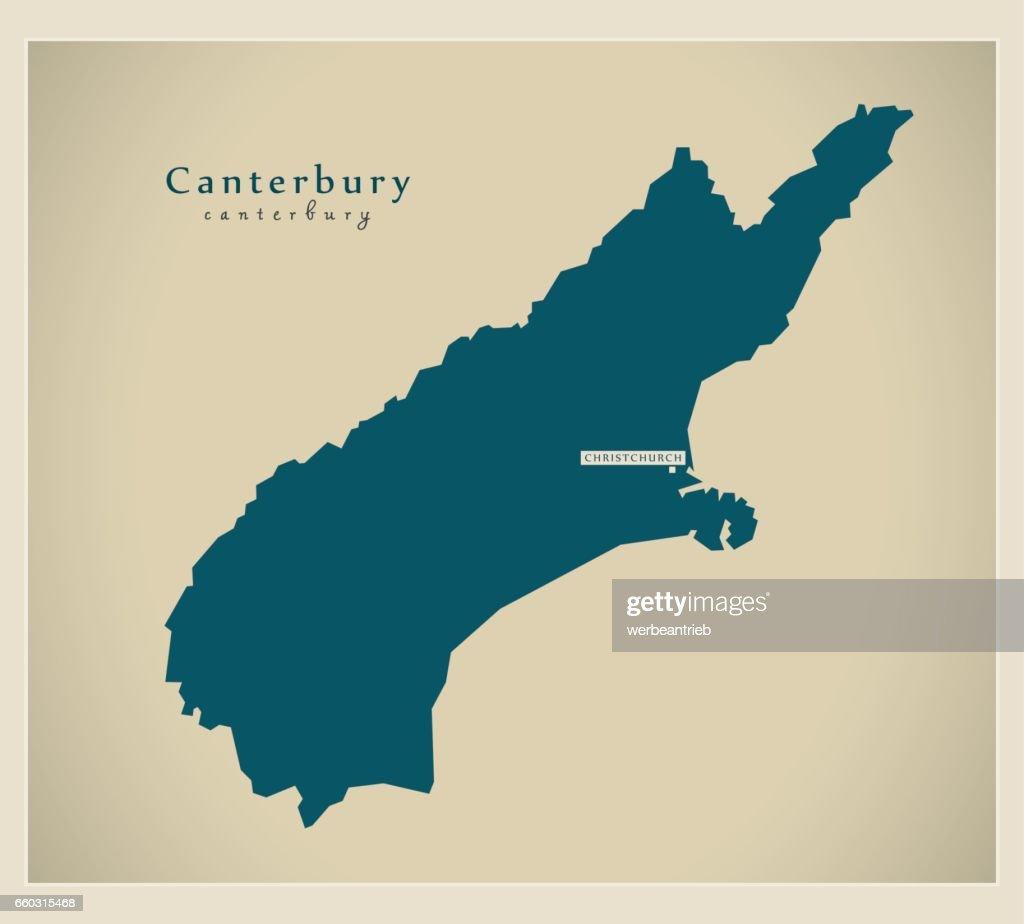 Modern Map - Canterbury NZ