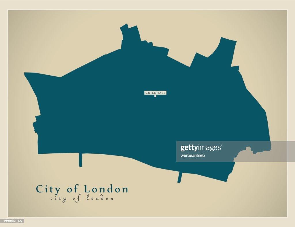 City Of London Map Uk.Modern Map City Of London Borough Greater London Uk England