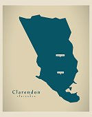 Modern Map - Clarendon JM