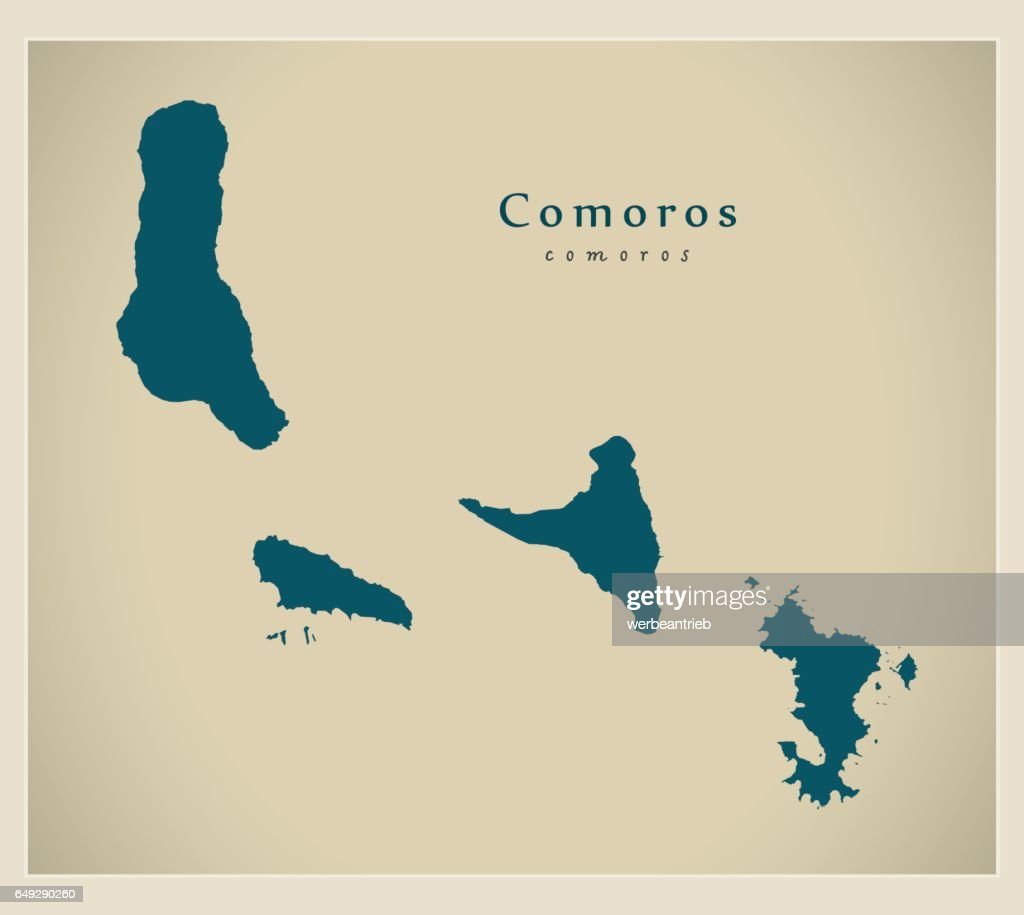 Modern Map - Comoros KM