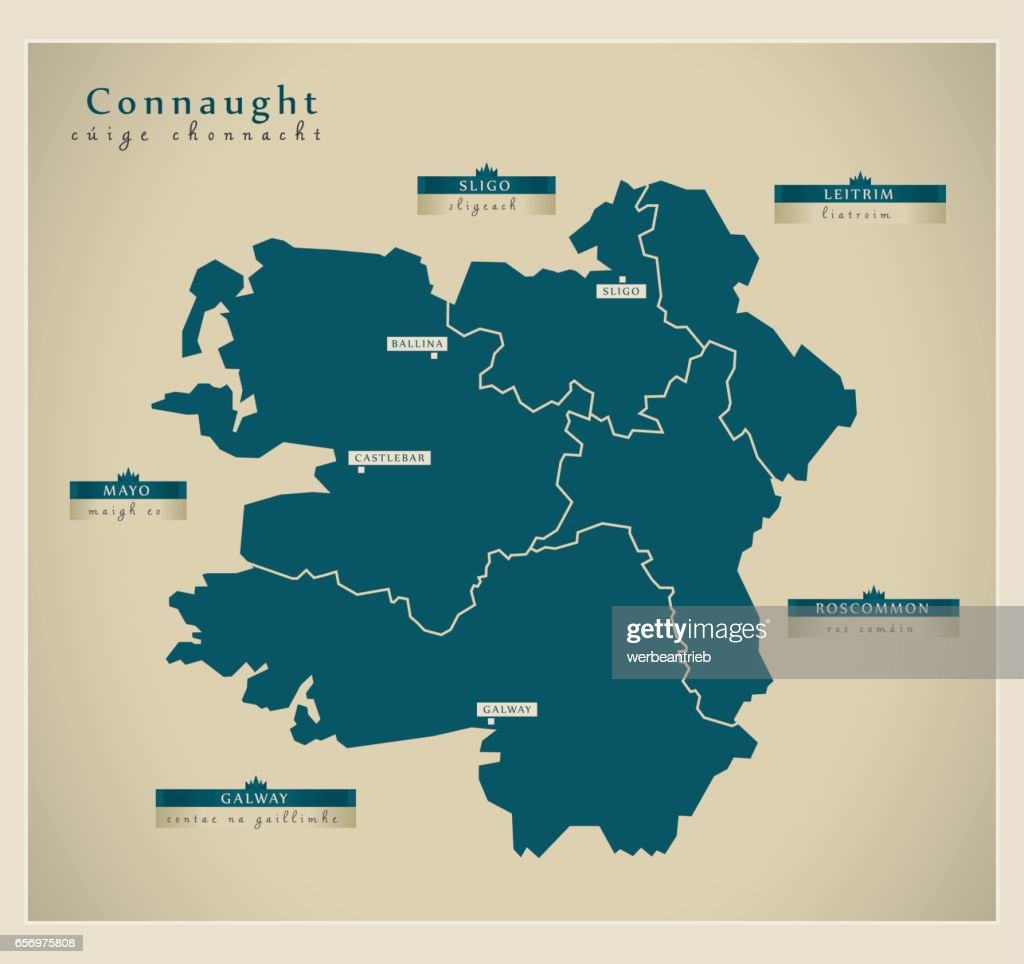 Modern Map - Connaught IE