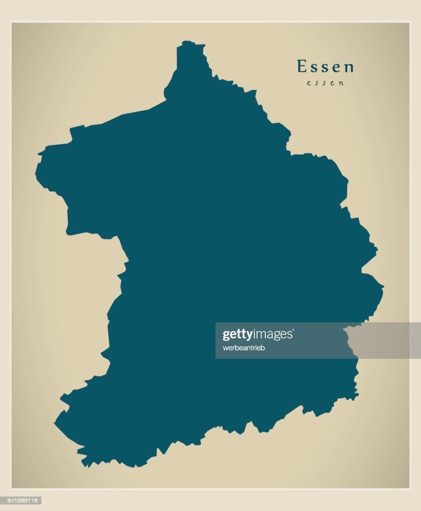 Modern Map - Essen city of Germany DE