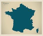 Modern Map - France FR