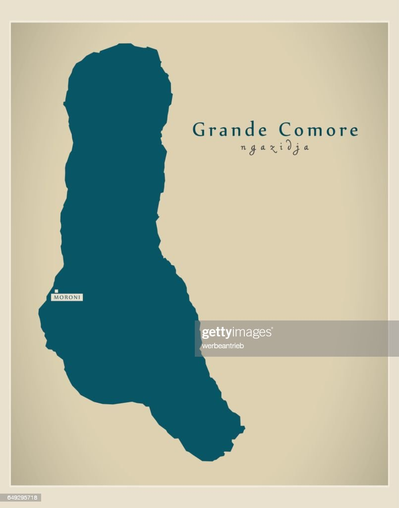 Modern Map - Grande Comore KM