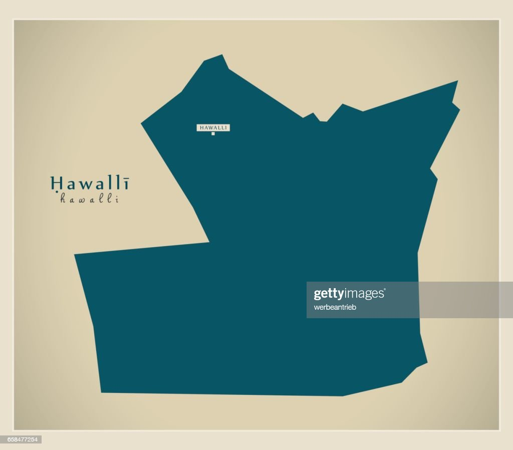 Modern Map Hawalli Kw Vector Art Getty Images