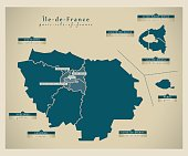 Modern Map - Ile-de-France FR